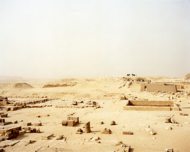 The Space between two Pyramids III,  c-print 100 × 125 cm